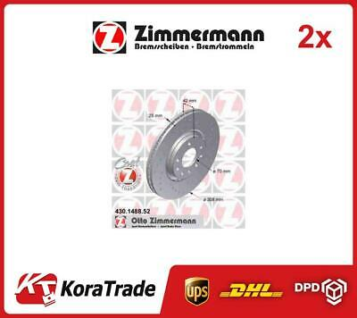 2x 430148852 ZIMMERMANN OE QUALITY BRAKE DISC SET • 157£
