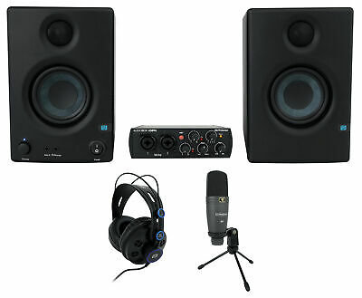 PRESONUS AudioBox 96 Studio Ultimate Black Interface+Headphones+Mic+Monitors • 231.51£