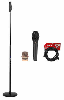 Blue Encore 200 Black Phantom Powered Dynamic Microphone+Round-Base Stand+Cable • 108.03£