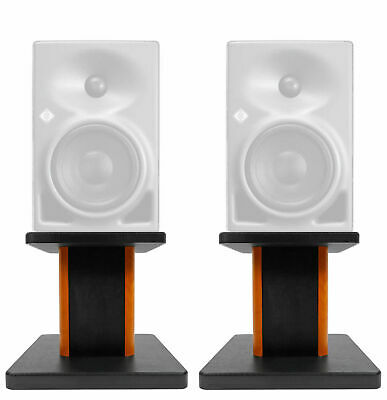"Rockville 8"" Wood Studio Monitor Speaker Stands For Neumann KH 80 DSP • 35.41£"