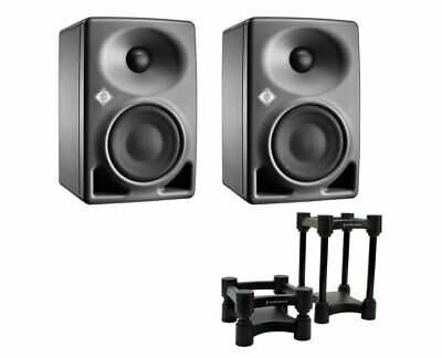 2x Neumann KH 80 KH80 DSP Active Speaker + IsoAcoustics ISO-130 Isolation Stands • 708.90£