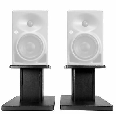 "Rockville 8"" Black Studio Monitor Speaker Stands For Neumann KH 80 DSP • 35.41£"