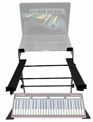 Rockville Laptop+Controller Stand for Keith Mcmillen Instruments K-Board Pro 4