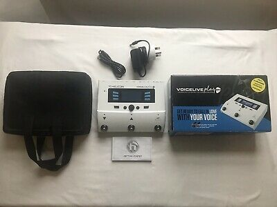 TC Helicon Voice Live Play GTX Multi Effect For Guitar Vocals & Accessories • 200£