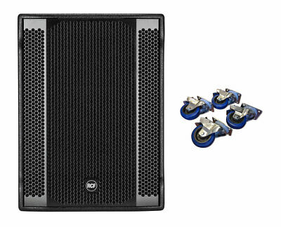 RCF SUB 8003-AS II Active Subwoofer Speaker + Casters 4-Pack Locking Wheels • 1,415.27£