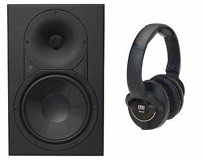 Mackie XR824 8  Powered Active Pro Studio Monitor Speaker + KRK Headphones • 371.44£