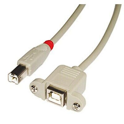 LINDY USB 2.0 Cable Type B/B Extension, Light Grey, 0,5m 0.5m • 24.99£