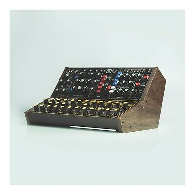 Solid Walnut Mount For Two Behringer Synthesizer Modules (Model-D, Neutron, Etc) • 44.64£