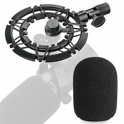 Shure SM7B Pop Filter With Shock Mount Matching Mic Boom Arm Stand, Suitable ... • 43.99£