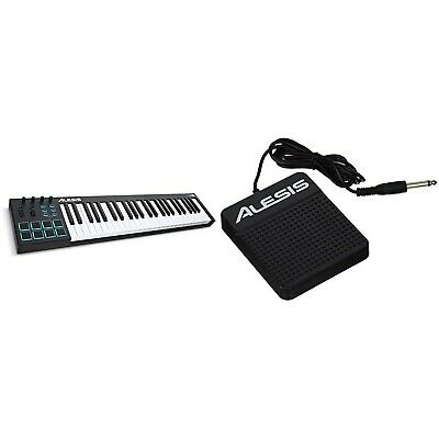 Alesis V49-49-Key USB MIDI Keyboard Controller With 8 Backlit Pads, 4 Assigna... • 164.99£