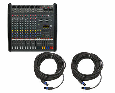 Dynacord PowerMate 1000-3 10-Channel Compact Power Mixer + 50' Speakon Cables • 2,152.98£