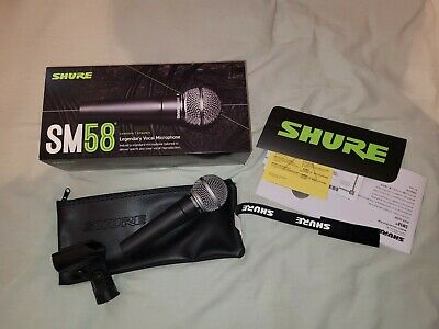 Shure SM58 High Output Cardioid Dynamic Handheld Vocal Microphone + Clip +wallet • 85£