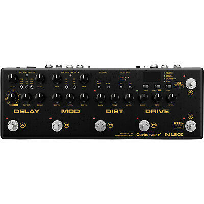 NUX Cerberus Pedal Multi Effects Guitar Pedal Distortion, Modulation, Delay • 195£