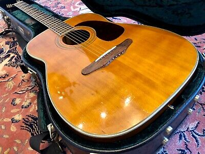 1965 Harmony H1260 Sovereign Acoustic Guitar - With K&K Pure Western Mini PU • 800£