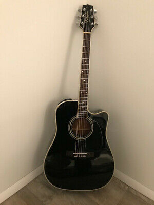 Takamine EF341SC 6-String Acoustic-Electric Guitar (Black) With Hard-Shell Case • 358.95£