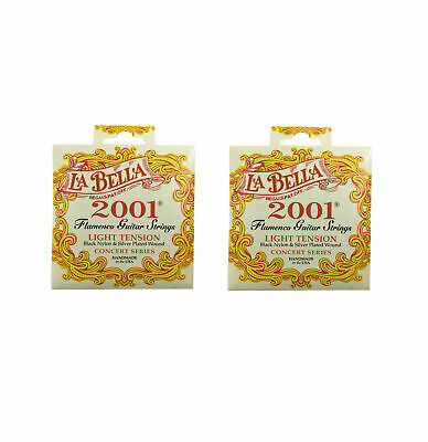 La Bella Guitar Strings 2-Pack Flamenco Light Silver Plated Wound Classical 2001 • 24.52£