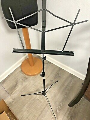 On-Stage Stands SM7122BB Black Finish W/Carrying Case Compact Sheet Music Stand • 3.62£
