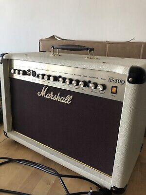 Marshall AS50D 50W Acoustic Guitar Amplifier White • 175£