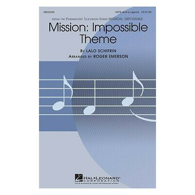 Mission: Impossible Theme SATB DV A Cappella Arranged By Roger Emerson • 1.60£