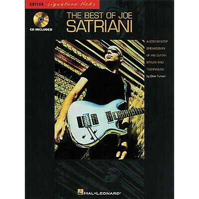 Hal Leonard The Best Of Joe Satriani Licks Book CD • 16.53£