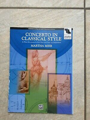 Concerto in Classical Style for Piano Duet by Mier *NEW* Publisher Alfred