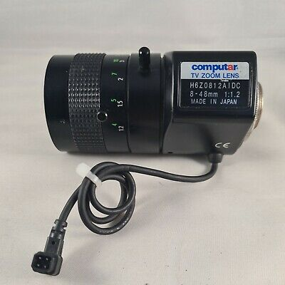 Computar TV Zoom Lens H6Z0812AIDC 8-48mm 1:1.2 Lens In Good Condition • 16.99£