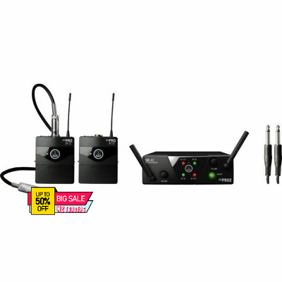 AKG WMS40 MINI Dual Vocal Dual Channel Wireless Microphone System • 134.99£