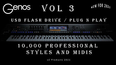 GENOS VOL 3. 10,000 Professional Styles And Midi's For The GENOS Keyboard. • 22.99£