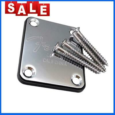 Fender Strat 4-Bolt Neck Joint Plate Board With Screws For Electric Guitar P Top
