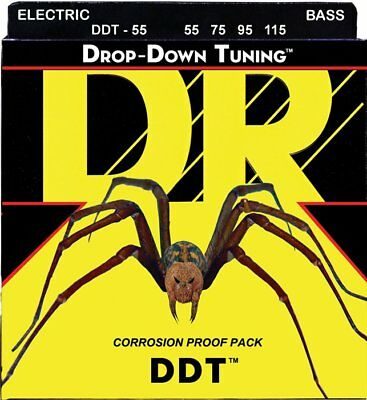 DR DDT-55 Drop Down Tuning 4-String Bass strings 55-115