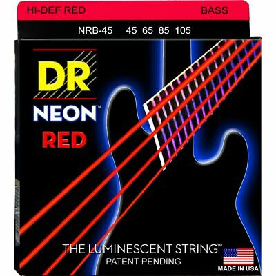 DR NRB-45 Neon Hi-Def Red 4-String Bass strings 45-105