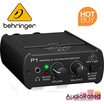 Behringer In-Ear Monitor System Amplifier Dual XLR Wired POWERPLAY P1 Live Stage