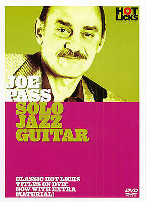 Joe Pass Solo Jazz Guitar Tutor Learn HOT LICKS DVD TAB LEARN TO PLAY TECHNIQUE • 23.99£