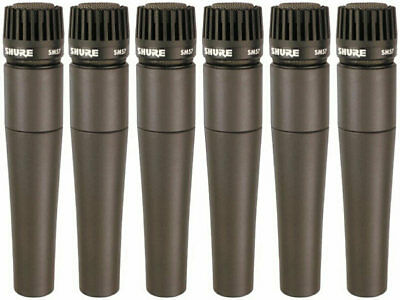 6 Pack - Shure SM57 SM-57 Dunamic Microphones Mics • 481.63£
