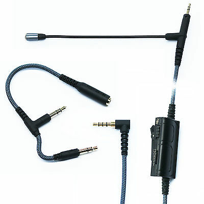 Boom Mic Volume Gaming For PS4 PC Xbox One PC Audio Technica ATH-M50x ATH-M40x • 18.41£