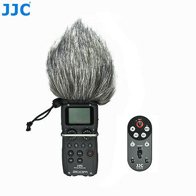 JJC 1.4m Wired Remote Control & Windscreen Windshield For Zoom H5 Handy Recorder • 19.99£