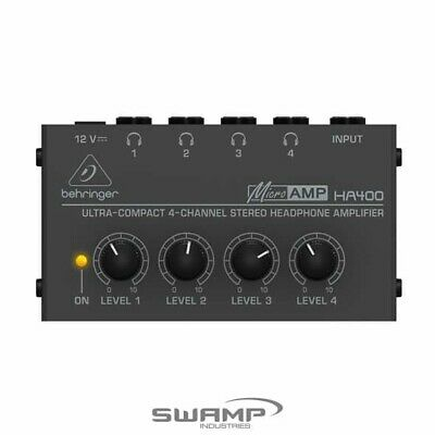 Behringer Microamp HA400 Ultra-Compact 4-Channel Stereo Headphone Amplifier • 28.73£