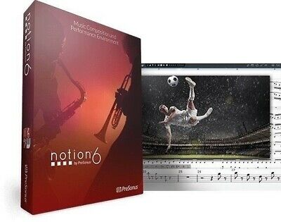 PresonusNotion 6 Upgrade Music Notation Software From Notion 3, 4, 5 EDelivery • 40.98£