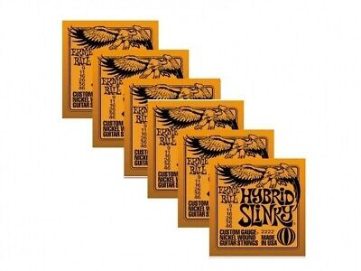 6 Sets Ernie Ball 2222 Hybrid Slinky Nickel Wound Electric Guitar Strings 9-46 • 23.57£