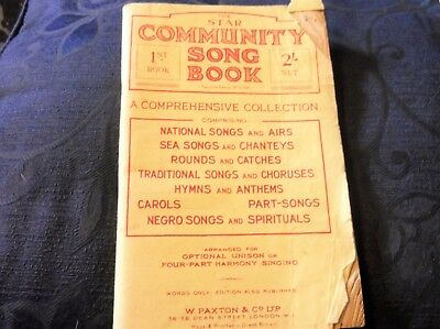 Vintage Original Sheet Music Booklet 1st Star Community Song Book Paxton A1094