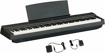 Yamaha P125 88-Key Weighted Action Digital Piano W/ Power Supply & Sustain Pedal • 473.07£