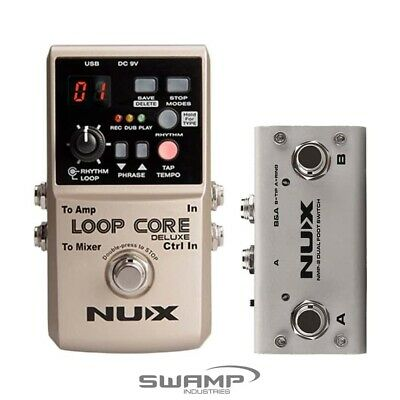 NUX LOOP CORE Deluxe Bundle With NMP-2 Dual Foot Switch Looper Pedal • 125.95£