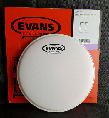 Evans Reso 7 COATED 8  B08RES7 Resonant Tom Fell Weiss Level 360 Head 8 Zoll • 14.68£