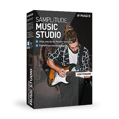 SAMPLITUDE Music Studio +NEW 2020 EDITION+MULTI LICENSE+HARD COPY & DOWNLOAD+ • 69.99£