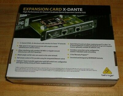 Behringer X-dante Expansion Card X32 X-32 M-32 New In Box! Buy It Now!!!!!!!!!!! • 371.14£