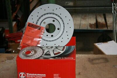 2x Zimmermann Sport Brake Discs Perforated Vauxhall Adam, Corsa E Set For Front • 113.85£