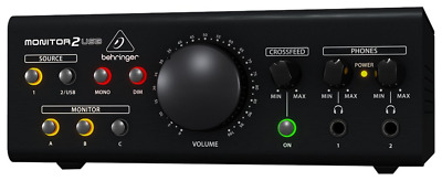 BEHRINGER MONITOR2USB High-End Speaker And Headphone Monitoring VCA Control And • 120.02£