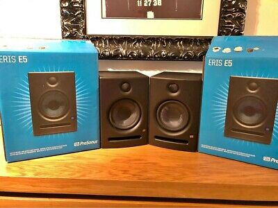 "PreSonus Eris E5 2-Way 5"" Active Studio Monitors Pair Speakers Boxed • 150£"