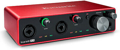 Focusrite Scarlett 4i4 (3rd Gen) USB Audio Interface With Pro Tools | First • 223.81£