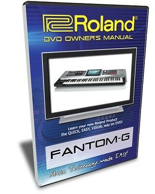 Roland Fantom-G DVD Video Training Tutorial G6 G7 G8 • 21.47£